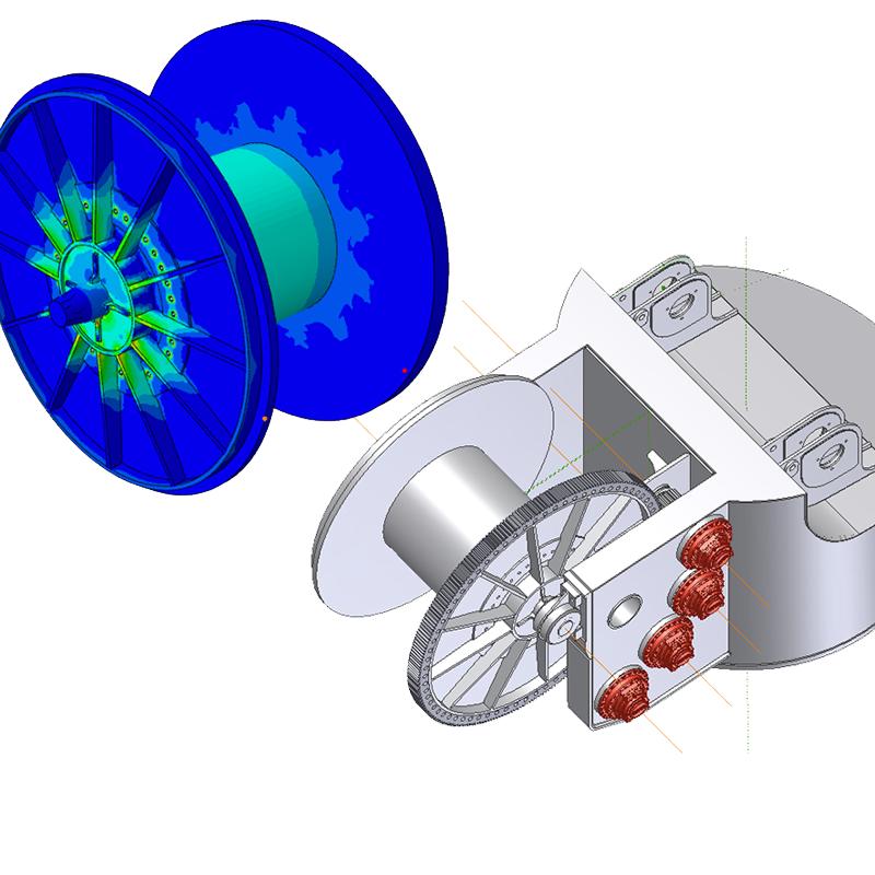 Progetto di un tamburo per gru offshore